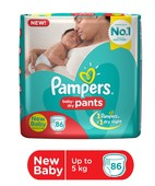 PAMPERS BABY DRY PANTS - NEW BABY 86S