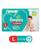 PAMPERS PANTS L 64S