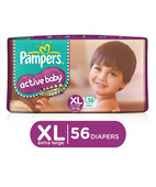 PAMPERS ACTIVE BABY DIAPERS - XL 56S