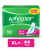 WHISPER ULTRA CLEAN SANITARY PADS - XL WINGS (44 PADS)