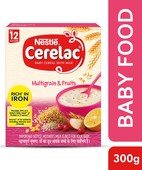 NESTLE CERELAC FORTIFIED BABY CEREAL WITH MILK, MULTIGRAIN & FRUITS - STAGE 4 300 GM