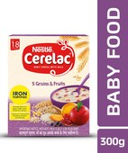 NESTLE CERELAC FORTIFIED BABY CEREAL WITH MILK, 5 GRAINS & FRUITS - STAGE 5 300GM