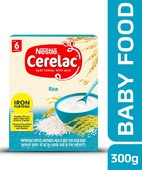 NESTLE CERELAC FORTIFIED BABY CEREAL WITH MILK, RICE - STAGE 1 300GM