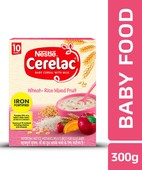 NESTLE CERELAC FORTIFIED BABY CEREAL WITH MILK, WHEAT-RICE MIXED FRUIT - STAGE 3 300GM