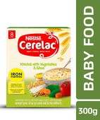 NESTLE CERELAC FORTIFIED BABY CEREAL WITH MILK, KHICHDI WITH VEGETABLES & GHEE - STAGE 2 300