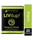 DR VAIDYAS LIVITUP CAPSULES PACK OF 4- HANGOVER SHIELD AND LIVER PROTECTOR
