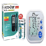 BP and Glucose Meter Combo of Accu-Chek Active Blood Glucometer Kit (Box of 10 Test Strips Free