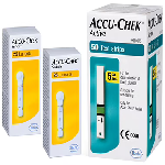 Accu-Chek Combo Pack of Active 50 Test Strip & 2 Pack of Softclix Lancet (25 Each)