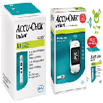 Accu-Chek Instant Combo of Glucometer with Free 10 Test Strips, mySugr App and 50 Test Strips