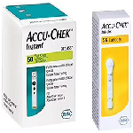 Accu-Chek Combo Pack of Instant 50 Test Strip & 2 Pack Softclix Lancet (25 Each)