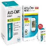Accu-Chek Instant S Combo of Blood Glucometer with 10 Test Strips Free and 50 Test Strip