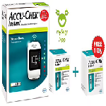 Accu-Chek Combo Pack of Instant Wireless Blood Glucose Monitoring System with 10 Strip Free & A
