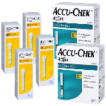 Accu-Chek Combo Pack of 2 Pack Active Test Strip (100 Each) & 4 Pack Softclix Lancet (25 Each)