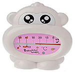 Safe-O-Kid Monkey Shaped Sensitive Bath Tub Thermometer or Room Thermometer Pink
