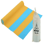 Nettie Yoga Mat with Free Carry Bag Sunrise Yellow & Water blue