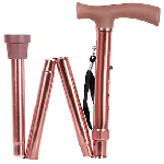 MCP Smart Folding Height Adjustable Walking Stick with LED Torch Light and SOS Alarm 4 Leg Brow