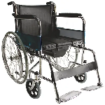 Easy Care 608F Commode Wheelchair Black