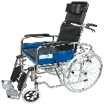 Entros KL608GCJ Foldable Recliner Wheelchair with Soft Commode Seat