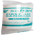 Safent First Aid Bandage 10cm x 4m (Packet of 1 bandage)