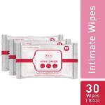Intimate Wet Wipes by SIRONA - 30 Wipes (3 Pack - 10 Wipes Each)