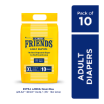Friends Adult Diapers - Economy (XL) 10'S